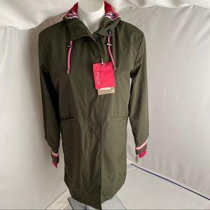 2Shirts Ago military green/hot pink rain coat M